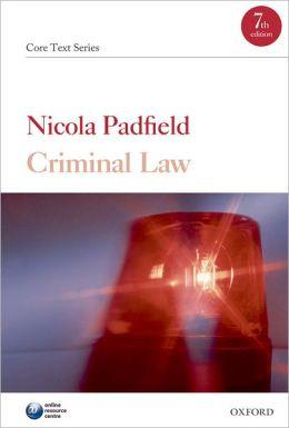 Criminal Law: Core Text