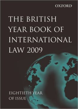 British Year Book of International Law 2009 Volume 80