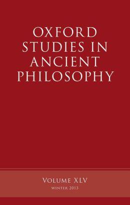 Oxford Studies in Ancient Philosophy: Volume 45