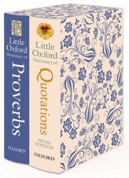 Little Oxford Gift Box: Little Oxford Dictionary of Quotations; Little Oxford Dictionary of Proverbs