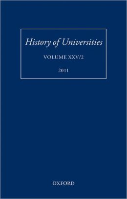History of Universities: Volume XXV/2