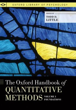 The Oxford Handbook of Quantitative Methods, Vol. 1: Foundations