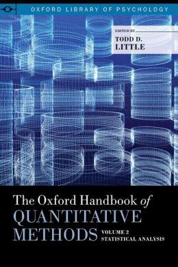The Oxford Handbook of Quantitative Methods, Vol. 2: Statistical Analysis