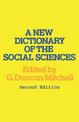 New Dictionary Of The Social Sciences