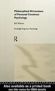 Philosophical Dimensions of Personal Construct Psychology
