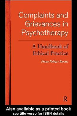 Complaints and Grievances in Psychotherapy