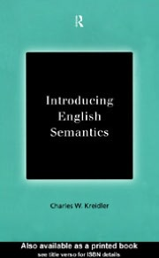 Introducing English Semantics
