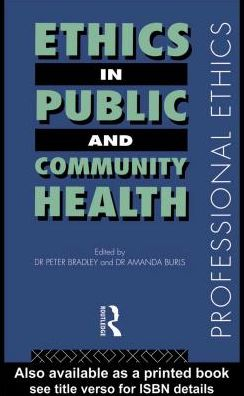 Ethics in Public and Community Health
