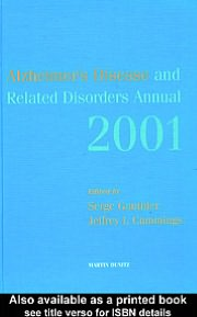 Annual of Alzheimer's Disease and Related Disorders - 2001