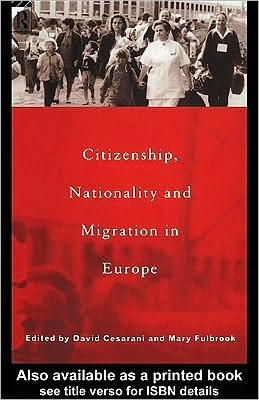 Citizenship, Nationality and Migration in Europe