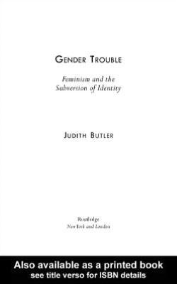 Gender Trouble