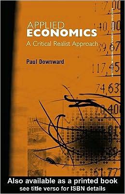 Applied Economics and the Critical Realist Critique