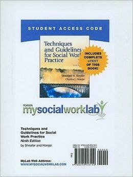 MySocialWorkLab with Pearson eText Student Access Code Card for Techniques and Guidelines for Social Work (standalone)