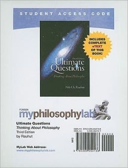 MyPhilosophyLab with Pearson eText Student Access Code Card for Ultimate Questions (standalone)