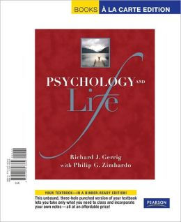 Psychology and Life, Books a la Carte Edition