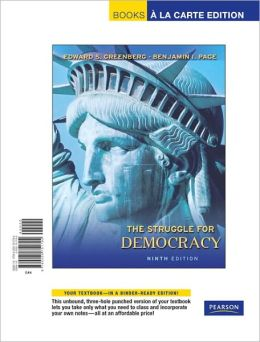 Struggle for Democracy, The, Books a la Carte Edition