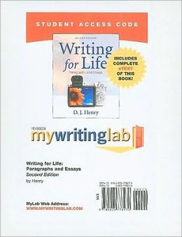 MyWritingLab with Pearson eText Student Access Code Card for Writing for Life: Paragraphs and Essays (standalone)