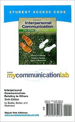 MyCommunicationLab Student Access Code Card for Interpersonal Communication (standalone)