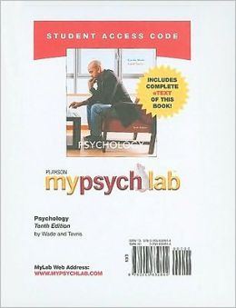 MyPsychLab with Pearson eText Student Access Code Card for Psychology (standalone)