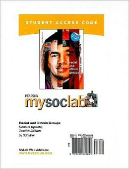 MySocLab Student Access Code Card for Racial and Ethnic Groups Census Update (Standalone)