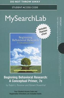 MySearchLab with Pearson eText -- Standalone Access Card -- for Beginning Behavioral Research