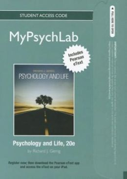 MyPsychLab with Pearson eText -- Standalone Access Card -- for Psychology and Life (standalone)