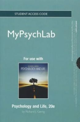 NEW MyPsychLab -- Standalone Access Card -- for Psychology and Life
