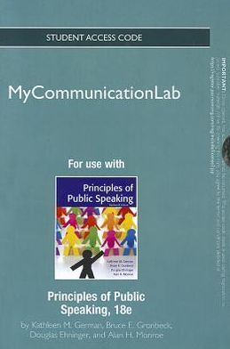 NEW MyCommunicationLab -- Standalone Access Card -- for Principles of Public Speaking
