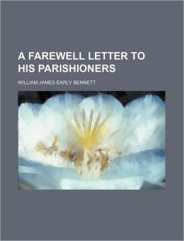 A Farewell Letter to His Parishioners