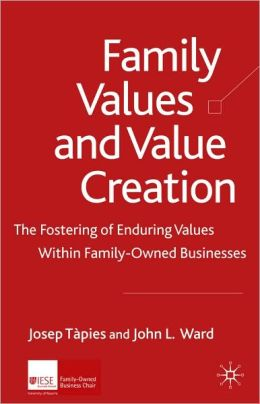 Family Values and Value Creation: The Fostering of Enduring Values Within Family-Owned Businesses