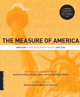 The Measure of America: American Human Development Report, 2008-2009