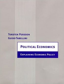 Political Economics: Explaining Economic Policy