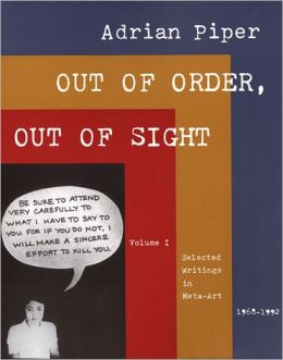 Out of Order, Out of Sight, Volume I: Selected Writings in Meta-Art, 1968-1992