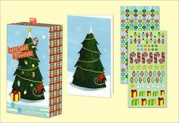 Spruce Holiday Sticker Note Cards