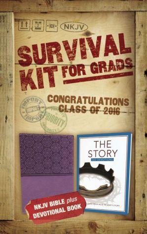 2016 Survival Kit for Grads, NKJV: NKJV Bible plus Devotional Book, The Story Devotional
