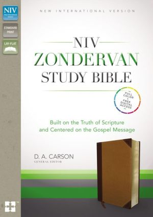 NIV, Zondervan Study Bible, Imitation Leather, Tan/Brown, Indexed: Built on the Truth of Scripture and Centered on the Gospel Message