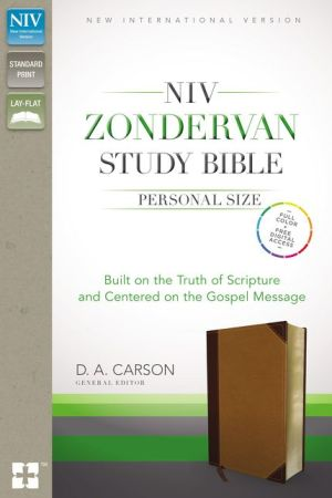NIV, Zondervan Study Bible, Personal Size, Imitation Leather, Brown/Black, Indexed: Built on the Truth of Scripture and Centered on the Gospel Message