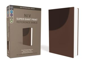 NIV, Super Giant Print Reference Bible, Imitation Leather, Brown, Red Letter Edition, Comfort Print