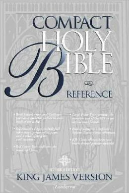 KJV Compact Reference Bible, Silver Edition: King James Version, navy premium leatherlook, button flap
