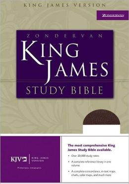 Zondervan KJV Study Bible: King James Version, burgundy genuine leather