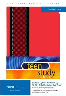 NIV Teen Study Bible, Dual Tone Red & Black
