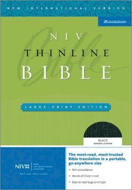 NIV Thinline Bible, Large Print