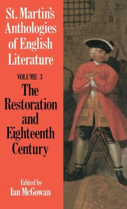 St. Martin's Anthologies Of English Literature--Volume 3