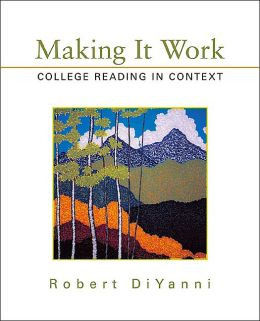 Making It Work: College Reading in Context