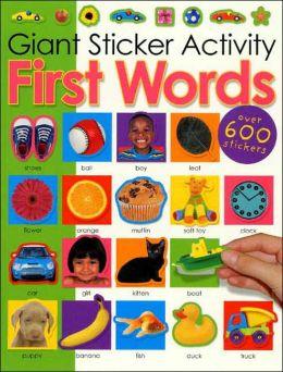 Giant Sticker Activity First Words