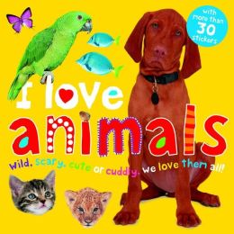 I Love Animals Sticker Book