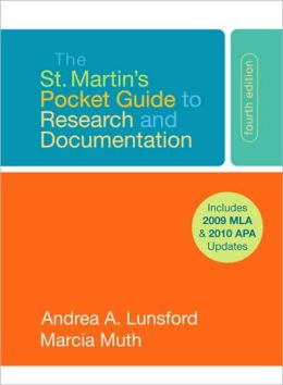 St. Martin's Pocket Guide to Research and Documentation with 2009 MLA Update
