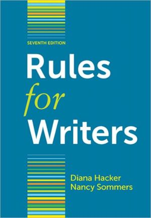Rules for Writers / Edition 7