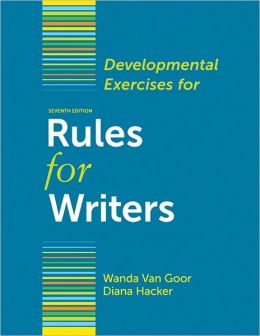Developmental Exercises for Rules for Writers