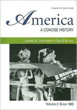 America: A Concise History 4e V2 & e-Book